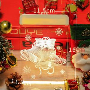 Haushalt weihnachten theme lampe string santa claus muster led familie indoor dekorieren energie sparen 3d farbige leuchten heißer verkauf 9cy j2