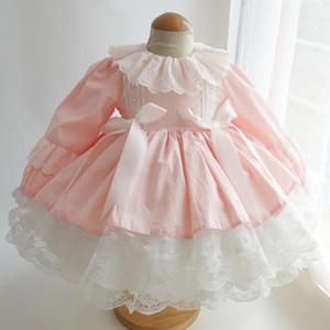 Maiyii Spring Automne Espagnol Lolita Princess Robe De Lace Dentelle Couture Couture de la robe de ballon mignonne Fête d'anniversaire Robe de Pâques pour filles Y3734