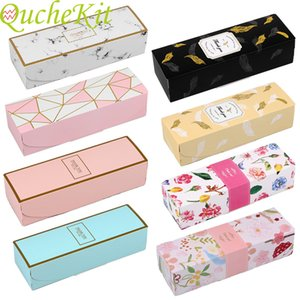 20 rectangular Gift Boxes Black Marble cardboard feather box Christmas paper packaging thank you chocolate box