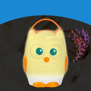 История машины Новорожденный ребенок Сова Успокаивающий Sleeper Раннее образование машина Детские головоломки Sleep Music Player Orange