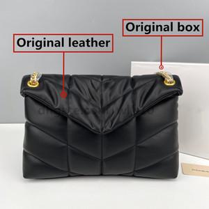 De alto nivel bolsos del bolso las mujeres de la calidad superior del monedero de la cadena del cuero genuino Bolsa de hombro 3 colores Caja Original 36cm 28cm YB25 YB26