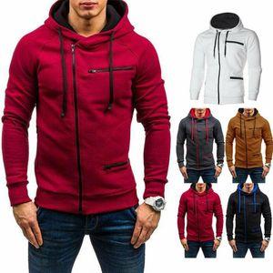Reino Unido Hombres Otoño Invierno suéter con capucha chaqueta con capucha Gimnasio Zip Up Pullover Puente Outwear