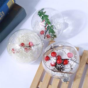 Noel Topu Süsler Şeffaf Top Hollow Ball çocuk Küçük Hediyeler Yeni Yıl Süslemeleri Restoran Bar Süslemeleri BWC3333