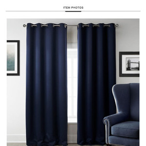 New Modern Blackout Curtains For Window Treatment Blinds Finished Drapes Window Blackout Curtain For Living Room jlligH lucky2005