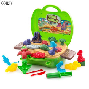 Clay Dinosaur Toys Set Magic Modeling Clay 26 Pieces Safe & Non Toxic 3D Dinosaur Figures Kids Boys and Girls Age 3-12 Years Old 201226