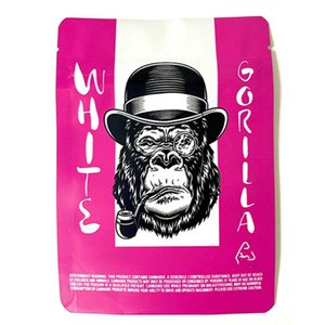Gorila blanco Pink Cake Cake Galletas SF 18 ° Vacío Paquetes Vacíos Galletas Mylar 3.5 gramos Pastel de boda Pink Oll Spell Bloqueo de cremallera Reseal Jllxon