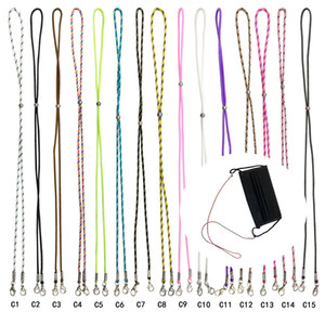 Mask Holder Strap Anti-lost Eyeglass Chains Face Mask Hanging Lanyard with Clips for Men Women Boys Girls Kids