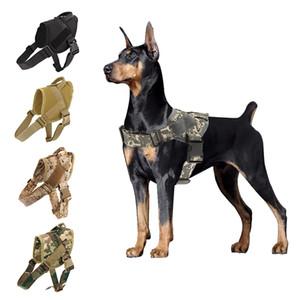 Cão Harness K9 Caminhando Ajustável Nylon Pet Cachorro Coleiro Colete Bungee Dog Leash Harness para Pequenos Larges Cães Shepherd 201101
