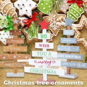 Mini Xmas Tree Bureau Arbre De Noël Cadeau Belle Fournitures de fête en bois de Noël artificielle Creative1