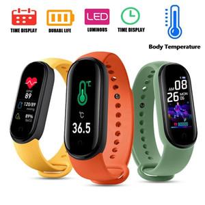 M5 Pro Corps Température Smart Bracelets M5 Stock Fitness Tracker Smart Bracelet Smart Reloj Pulsera Inteligente Smartwatch M5 PRO Montres