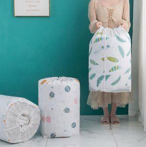 سعة كبيرة حقائب لحاف التخزين PEVA الرباط حقيبة مويستوريبروف الملابس منظم سماكة الاشياء حقيبة مكافحة الغبار أكياس التخزين الرئيسية
