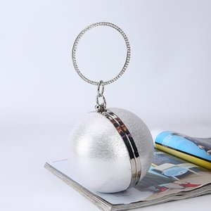 Socialite Spherical Dinner Bag Simple Personality Fashion Round Ball Evening Bag PU Banquet Bag Makeup Clutch