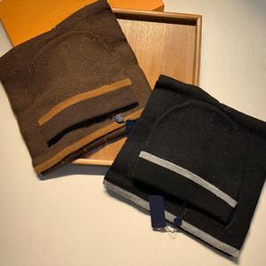 20ss высокого качества шапка шарфы для мужчин и женщин зимняя шерсть шарф дизайн шаль шляпа шерстяной шанс обертка