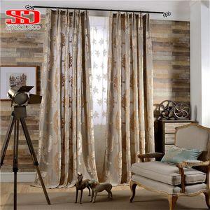 Europäischer Damast strömte Jacquard Vorhang für Wohnzimmer Luxusdraps Glänzende Samt Vorhänge für Schlafzimmerfenster Dekoration LJ201224