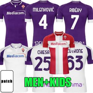 2020 2021 ACF Fiorentina Soccer Jerseys Callejon Vlahovic Castrovilli Pezzella Valero Ribery 20 21 Football Hommes et chemises pour enfants