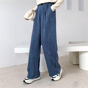 Sherhure 2020 Primavera Pure Color estiramento cintura larga perna reta Moda Mulheres Calças Feminino Calças C1111