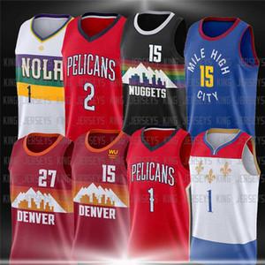 15 Nikola 27 Jokal Jokic Murray 1 Zion DenverNuggetsJersey New Jersey MM1 Williamson OrleansPelikane Basketball-Trikots.