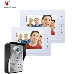 Yobang Security Security 7 pollici Videocitofono Sistema di campanello citofono con fotocamera IR Hands-free Due monitor Video Bell1