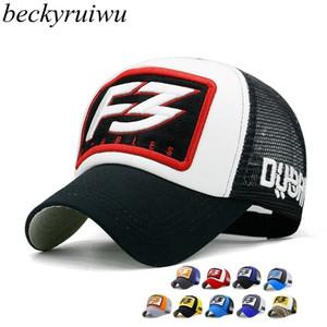 Beckyruiwu Moda Yeni Hip Hop Snapback Beyzbol Şapka Cap 201019 Soğuk casquette Kadınlar Erkekler için Yetişkin Yaz Mesh Trucker Caps Şapka