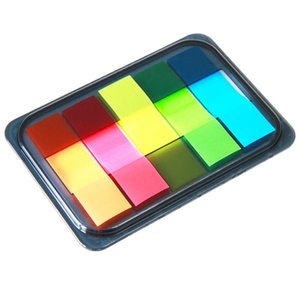1 Pack 5 Color Notes 20 Pcs Per Color Sticky Notes Indicator Strips Indicator Stickers Deli 9060 wmtqCT my_home2010
