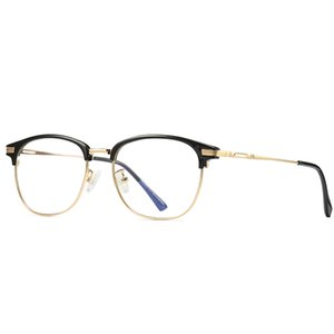New gold metal frame glasses men's and women's computer goggles student goggles mobile phone computer TV goggles transparent lens glasses