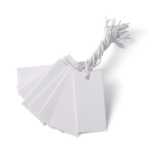 White Paper Price Cards Rectangle For Jewelry Display 35x18mm Whi bbyLgi