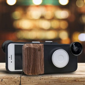 RK23 for iPhone 8 7 Selfie 9 Levels of Brightness Beauty Fill Light Phone Case With Wide Angle Macro Fisheye Lens