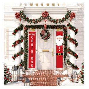 Welcome Merry Christmas Hanging Door Banner Ornaments Christmas Decorations for Home Indoor Outdoor Xmas Decor New Year Natal