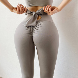 Bowknot lift hip Sports pants High Waist Seamless Yoga Leggings Scrunch Butt Workout Sports Women Fitness Leggings Gym Running Tights