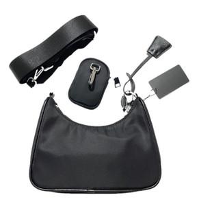 Mejor venta diseñadores bolsas de nylon bolso de mano de la moda luxurys la mujer bolso bolsas de sillín de tres asas bolsas pieza de combinación
