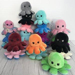 DHL Schnelle Lieferung Reversible Flip Octopus Gefüllte Plüsch Puppe Weiche Simulation Umkehrbare Plüsch Spielzeug Farbe Kapitel Plüsch Puppe Kind Spielzeug