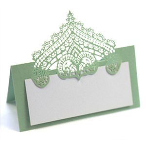 Three dimensional lace seat card, laser hollow holiday card, handwritten dark blue table card, name card customization