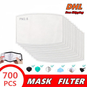 face mask Filter gasket Replaceable Breathable 5 Layers Activated Carbon PM2.5 Mask Filter 700pcs with filter to prevent dust and pollen 02