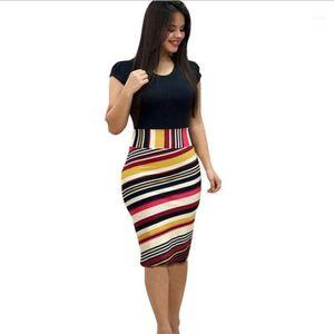 Womens New Fashion Summer Dresses Printing Office Midi Pencil Dress Plus Size Female Bodycon Bandage Clothing11
