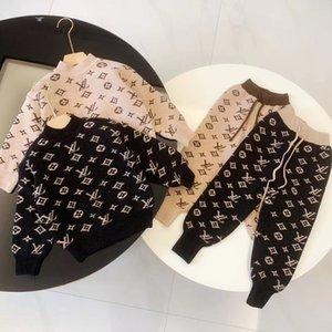 2pcs crianças roupas menino set queda camisola de malha roupas infantis calças