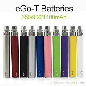 Ego-t Battery Ego t Batteries Fit 510 Thread Atomizer Clearomizer Vaporizer CE4 CE5 650 900 1100mAh Battery In Stock Fast Shipping