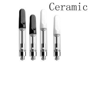 ceramic coil vaporizer vape tank thick oil cartridge ceramic drip tip atomizer wax oil vaping device bud open vape smart tank DHL free