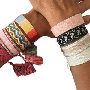 2021 joyería caliente pulseras de moda trenzado pulsera de borla de alta calidad ja cuerda amistad brazalete regalo para hombres mujeres