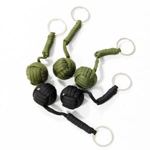 5pcs Tactical Paracord Monkey Couteau Fist Lanière Chrome Steel Ball En plein air Kits de survie Porte-clés