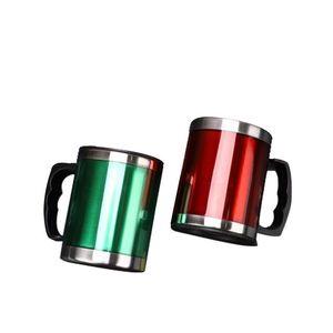 500ml Travel Mug Stainless Steel Coffee Mug with Lid Handle Portable Beer Mugs Double Wall Travel Tumbler Tea Milk Coffee Mug 181 G2