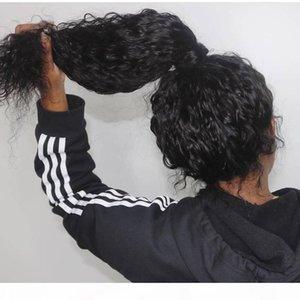Wasser Welle Menschenhaar-volle Spitze-Perücken Pre Zupforchester Natürlicher Haarstrich mit dem Babyhaar brasilianischen Remy Haar-Perücken für Frauen
