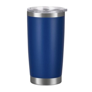 {NEW}Stainless Steel Tumblers Egg Cups Wine Travel Double Wall Vacuum Large Capacity Sports Mugs Ice Beer Mug For Cars 20oz DHF1347
