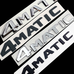 Pour Mercedes Benz A B C E G S ML SL CL GLA CLA CLA CLA CLA AMG 4MATIC 4 MATIC CLOCK CHROME MATTE NOIR Lettres Emblem Badge Sticker