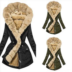 qIufO Kids women's Girls long coat winter Designer Clothes down Baby Toddler Infant Girls Clothes Cute Fleece Fur Winter Cloak Coat