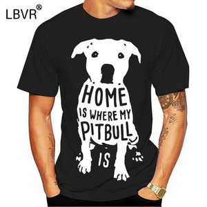 La casa è dove di Natale di natale di Natale divertente Mens T Shirt mio Pitbull Is Citazione maglietta manica corta maglietta di sport Felpa con cappuccio Felpa con cappuccio