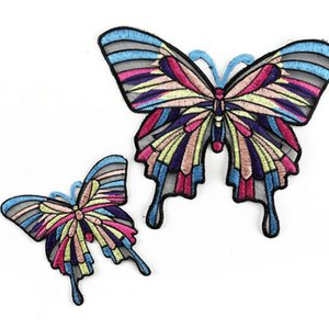 Ferro de sarja personalizado em manchas bordadas borboletas bordadas para vestuário Bordado Remendo Sew para Roupas Patch de Bordado de Alta Qualidade