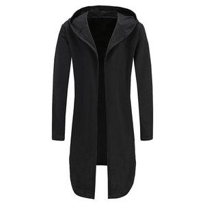 Mens Oversizeds Warm Hoody Hip Hop Coat With Zipper Hoodie Sweatershits Fashion Long Longline Streetwear Hoodies