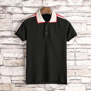 Ropa de diseñador de verano de primavera para hombre polo clásico estilo patchwork color bordado letra camiseta casual turno cuello tee shir