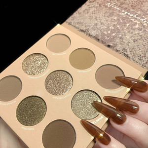 Nine-Color Eye shadow Python pattern Golden gold color Smooth makeup well produce Factory Direct Press eye shadow beauty