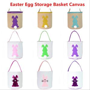 2021 الفصح البيض تخزين سلة قماش الأرنب الأذن دلو الإبداعية هدية عيد الفصح حقيبة مع الذيل الأرنب الديكور 8 أنماط